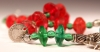 Red & Green Vaseline Beads with Triple Pendant Chachal
