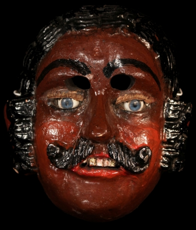 Mexicanito Child's Mask with blue eyes