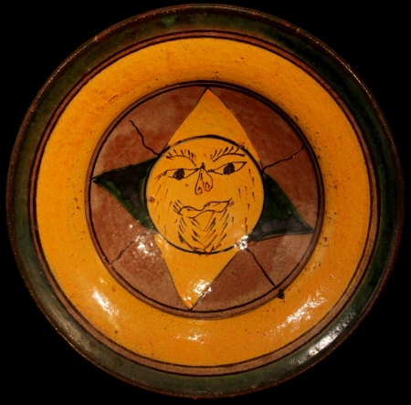 Rare bearded Sun Ceremonial Plate