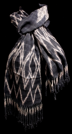 Blue Scarf with Natural Dyes