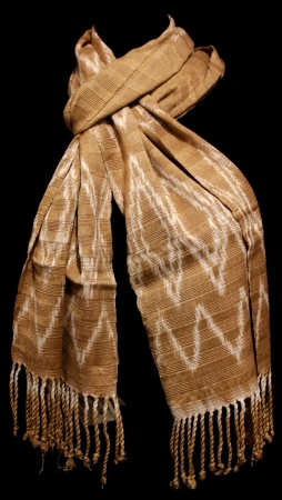 Brown Scarf with Natural Dyes