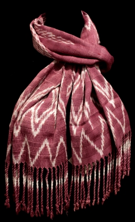 Purple Scarf with Natural Dyes