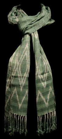 Green Scarf with Natural Dyes